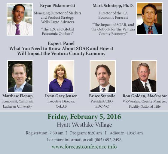 CA Economic Forecast Speakers